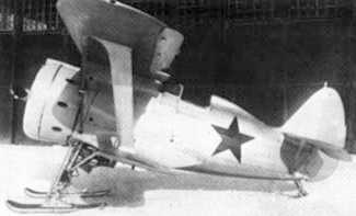 I153 SeaGull biplane fighter USSR