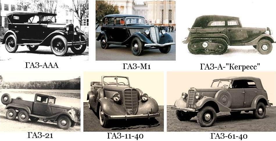 Автомобили красной армии